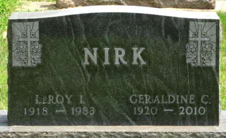 GUYNN NIRK, GERALDINE C. - Black Hawk County, Iowa   GERALDINE C. GUYNN NIRK