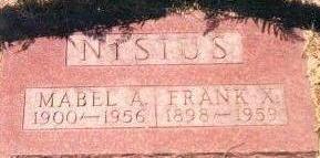 NISIUS, FRANK - Black Hawk County, Iowa | FRANK NISIUS