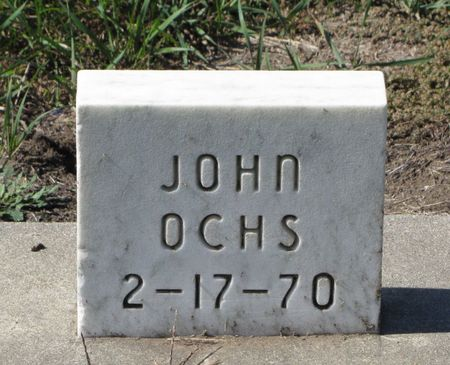 OCHS, JOHN - Black Hawk County, Iowa | JOHN OCHS