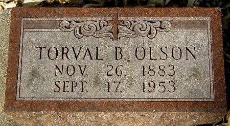 OLSON, TORVAL B. - Black Hawk County, Iowa | TORVAL B. OLSON