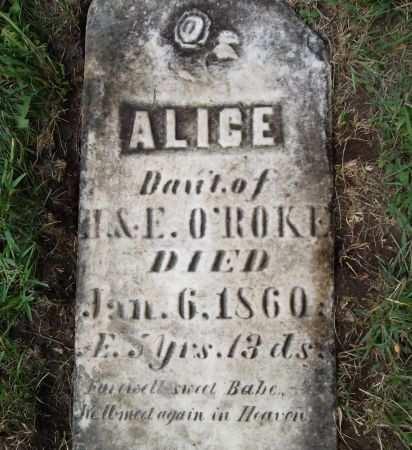 O'ROKE, ALICE - Black Hawk County, Iowa | ALICE O'ROKE