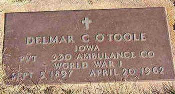 O'TOOLE, DELMAR C. - Black Hawk County, Iowa   DELMAR C. O'TOOLE