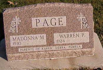 PAGE, MADONNA M. - Black Hawk County, Iowa | MADONNA M. PAGE