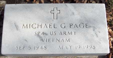 PAGE, SPEC.  MICHAEL G. - Black Hawk County, Iowa   SPEC.  MICHAEL G. PAGE