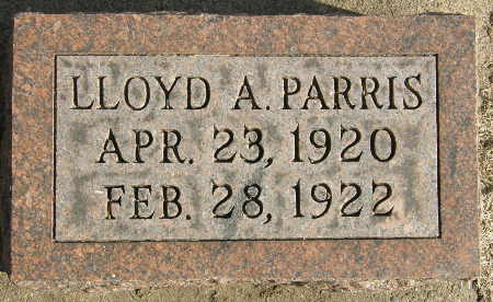 PARRIS, LLOYD A. - Black Hawk County, Iowa | LLOYD A. PARRIS