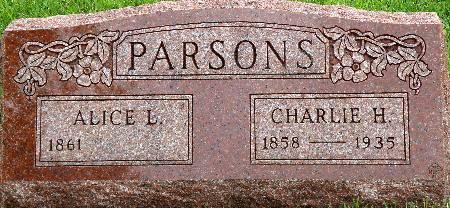 PARSONS, CHARLIE H. - Black Hawk County, Iowa | CHARLIE H. PARSONS