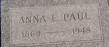 PAUL, ANNA E. - Black Hawk County, Iowa   ANNA E. PAUL