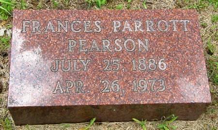 PARROTT PEARSON, FRANCES - Black Hawk County, Iowa | FRANCES PARROTT PEARSON