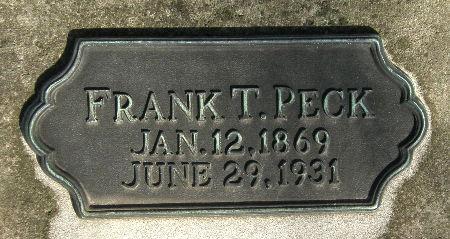 PECK, FRANK T. - Black Hawk County, Iowa   FRANK T. PECK