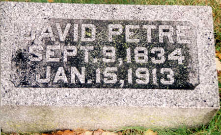 PETRIE, DAVID - Black Hawk County, Iowa   DAVID PETRIE