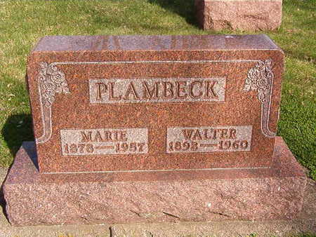 PLAMBECK, MARIE - Black Hawk County, Iowa   MARIE PLAMBECK