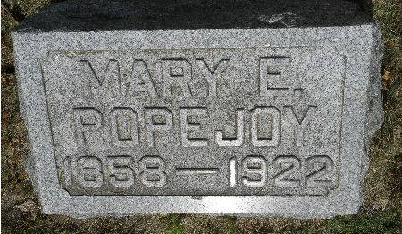 POPEJOY, MARY E. - Black Hawk County, Iowa | MARY E. POPEJOY