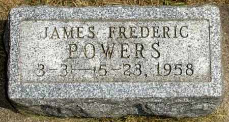 POWERS, JAMES FREDERIC - Black Hawk County, Iowa | JAMES FREDERIC POWERS