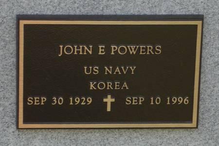 POWERS, JOHN E. - US NAVY - Black Hawk County, Iowa   JOHN E. - US NAVY POWERS