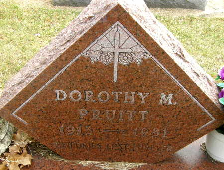 PRUITT, DOROTHY M. - Black Hawk County, Iowa | DOROTHY M. PRUITT