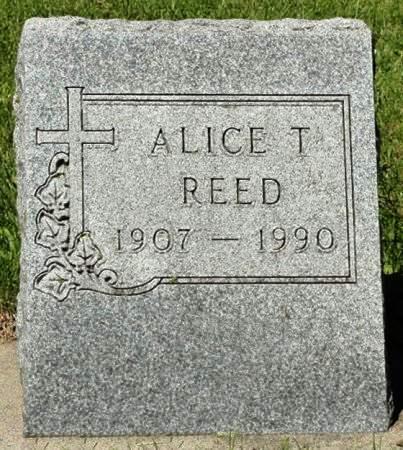 REED, ALICE T. - Black Hawk County, Iowa   ALICE T. REED