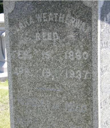 WEATHERWAX REED, CLARA - Black Hawk County, Iowa | CLARA WEATHERWAX REED