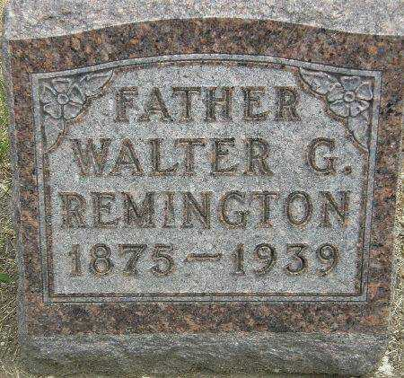 REMINGTON, WALTER G. - Black Hawk County, Iowa | WALTER G. REMINGTON