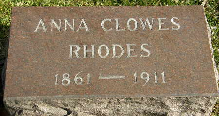 RHODES, ANNA - Black Hawk County, Iowa | ANNA RHODES