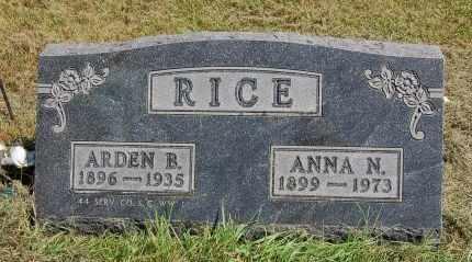 NEITH RICE, ANNA N. - Black Hawk County, Iowa | ANNA N. NEITH RICE