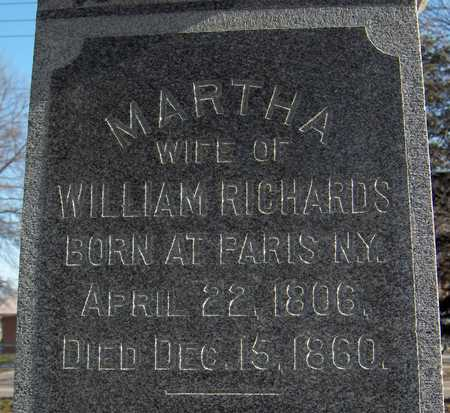 RICHARDS, MARTHA - Black Hawk County, Iowa | MARTHA RICHARDS