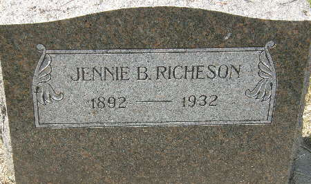 RICHESON, JENNIE B. - Black Hawk County, Iowa | JENNIE B. RICHESON