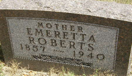 ROBERTS, EMERETTA - Black Hawk County, Iowa | EMERETTA ROBERTS