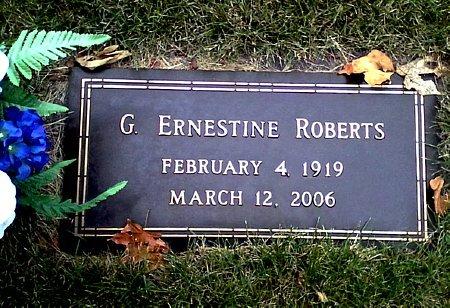ROBERTS, G. ERNESTINE - Black Hawk County, Iowa | G. ERNESTINE ROBERTS
