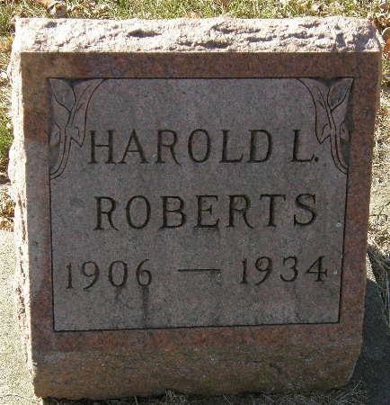ROBERTS, HAROLD L. - Black Hawk County, Iowa | HAROLD L. ROBERTS