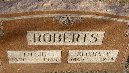 ROBERTS, ELISHA T. - Black Hawk County, Iowa | ELISHA T. ROBERTS