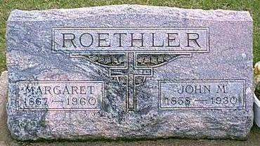GIEFER ROETHLER, MARGARET MARY - Black Hawk County, Iowa | MARGARET MARY GIEFER ROETHLER