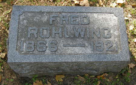 ROHLWING, FRED - Black Hawk County, Iowa | FRED ROHLWING