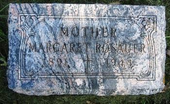 ROSAUER, MARGARET - Black Hawk County, Iowa   MARGARET ROSAUER