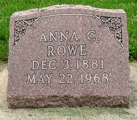 ROWE, ANNA C. - Black Hawk County, Iowa | ANNA C. ROWE