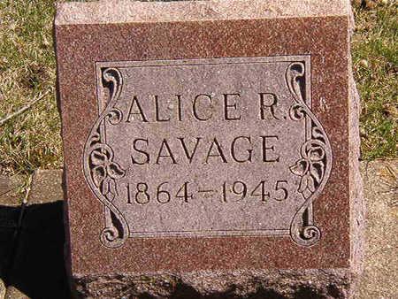 SAVAGE, ALICE R. - Black Hawk County, Iowa | ALICE R. SAVAGE