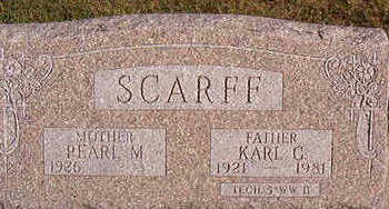 SCARFF, KARL C. - Black Hawk County, Iowa | KARL C. SCARFF