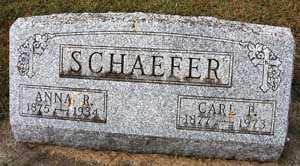 SCHAEFER, ANNA R. - Black Hawk County, Iowa   ANNA R. SCHAEFER
