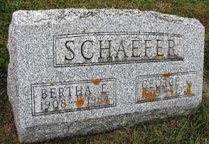 SCHAEFER, GEORGE C. - Black Hawk County, Iowa   GEORGE C. SCHAEFER