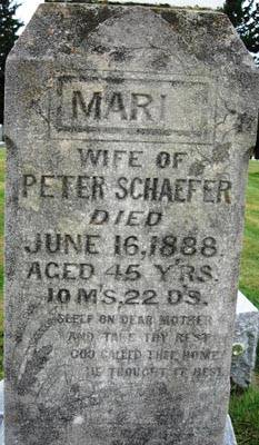 SCHAEFER, MARIA - Black Hawk County, Iowa   MARIA SCHAEFER