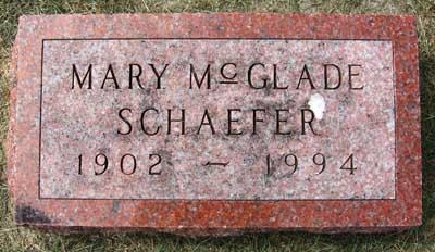 MCGLADE SCHAEFER, MARY ALICE - Black Hawk County, Iowa | MARY ALICE MCGLADE SCHAEFER