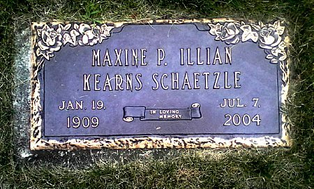 KEARNS SCHAETZLE, MAXINE P. ILLIAN - Black Hawk County, Iowa | MAXINE P. ILLIAN KEARNS SCHAETZLE
