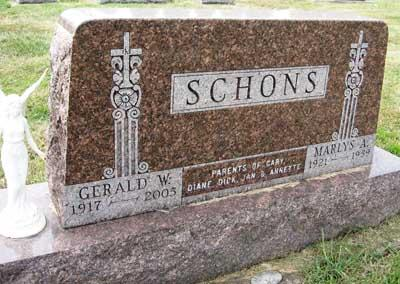 SCHONS, GERALD W. - Black Hawk County, Iowa | GERALD W. SCHONS