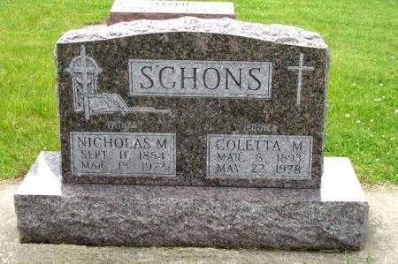 SCHONS, NICHOLAS M. - Black Hawk County, Iowa | NICHOLAS M. SCHONS