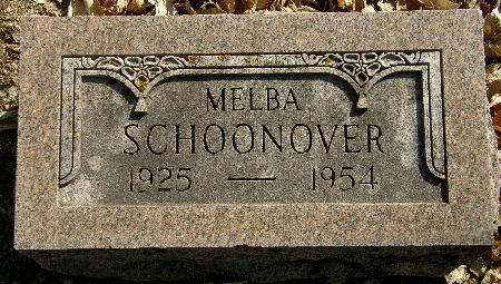 SCHOONOVER, MELBA - Black Hawk County, Iowa | MELBA SCHOONOVER