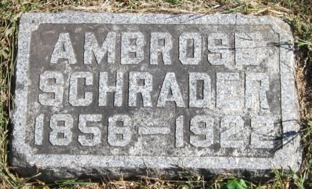 SCHRADER, AMBROSE - Black Hawk County, Iowa   AMBROSE SCHRADER