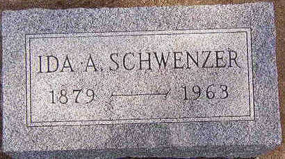 SCHWENZER, IDA A. - Black Hawk County, Iowa   IDA A. SCHWENZER
