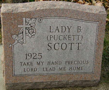 PUCKETT SCOTT, LADY B. - Black Hawk County, Iowa | LADY B. PUCKETT SCOTT