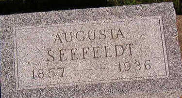 SEEFELDT, AUGUSTA - Black Hawk County, Iowa | AUGUSTA SEEFELDT