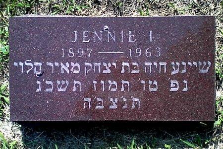 SEIGEL, JENNIE I. - Black Hawk County, Iowa   JENNIE I. SEIGEL