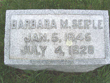 SEIPLE, BARBARA M. - Black Hawk County, Iowa   BARBARA M. SEIPLE